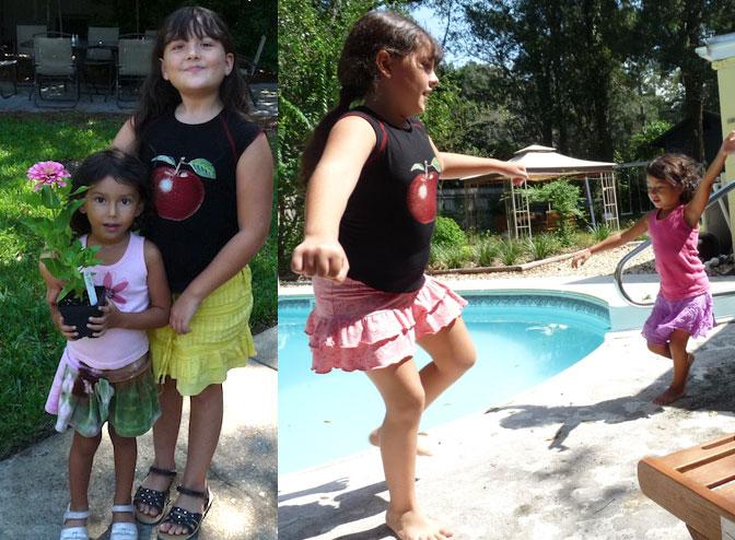 My beautiful girls before I began my transformation