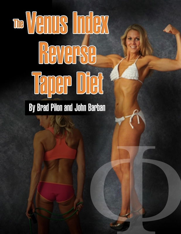 Alisha did so well on her photo shoot that her picture is featured on the cover of the Reverse Taper Diet manual