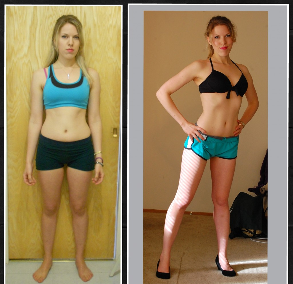 Lori Anderson before and after the 12 week contest