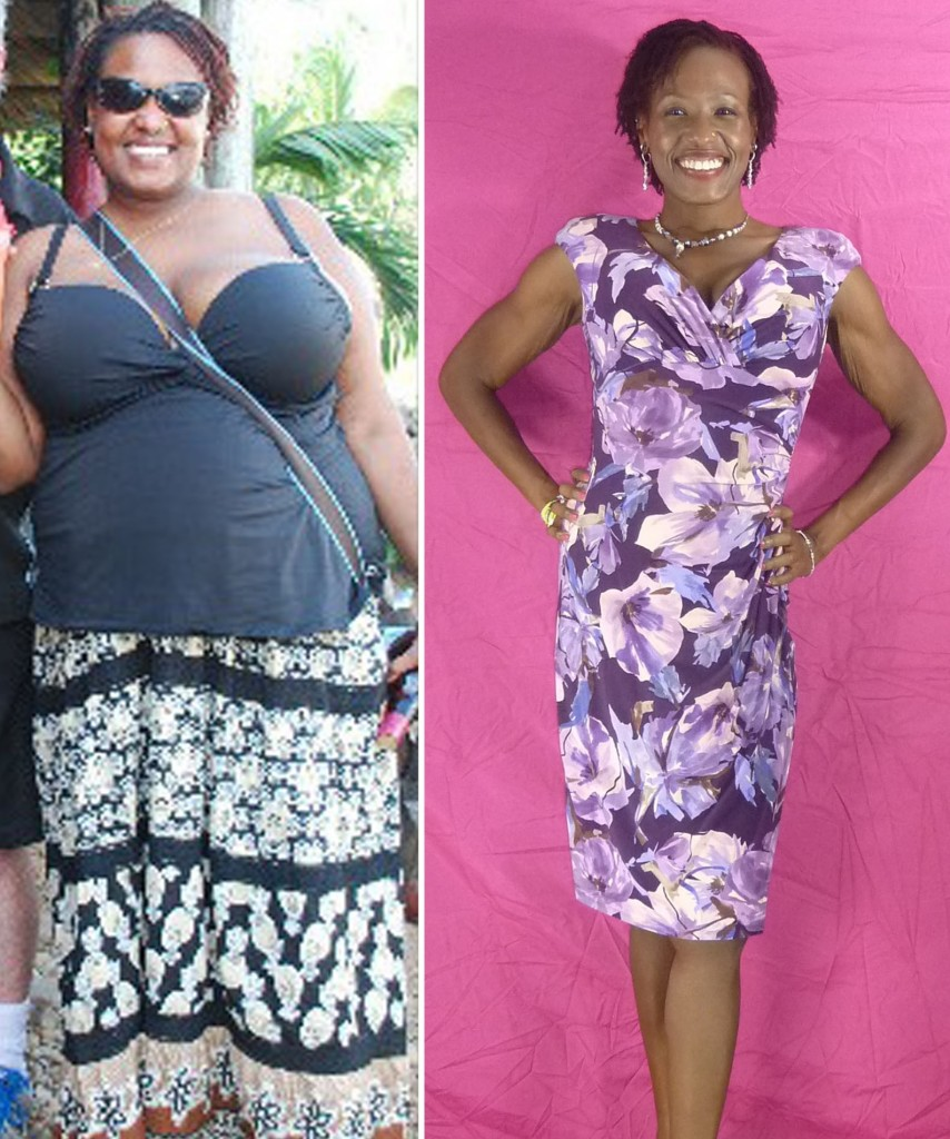 Kiya has lost a total of 110 lbs and 73 inches