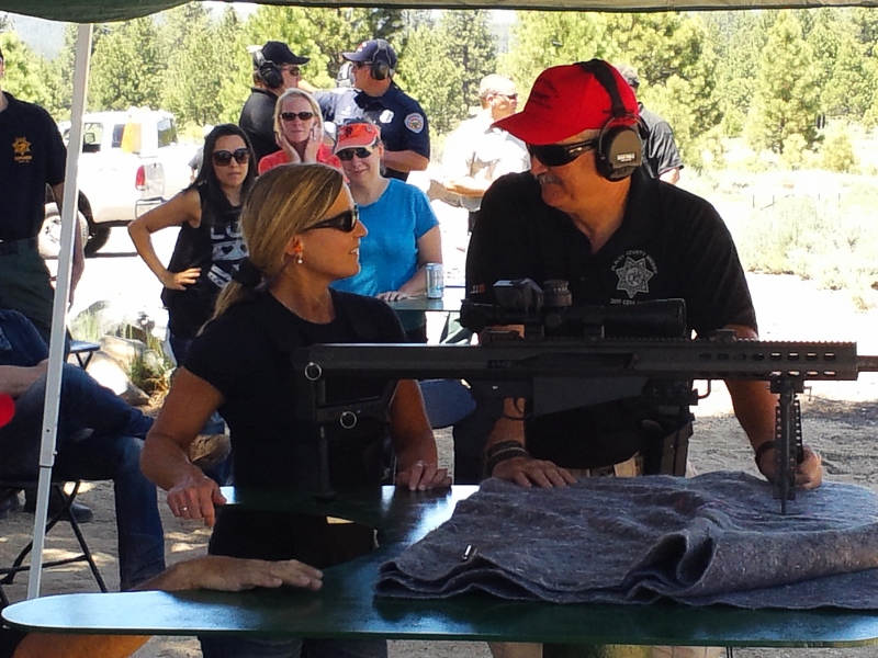 We all got a chance to shoot the 50 caliber rifle