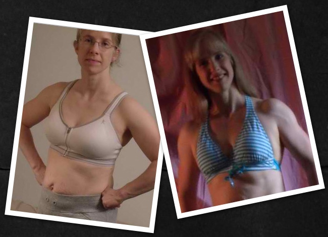 Daphne worked very hard in spite of all her life stress and you can see the muscle tone she gained here in just 12 weeks.
