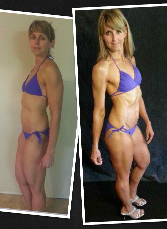 Lea lost four pounds and got closer to her VI Ideal metrics.