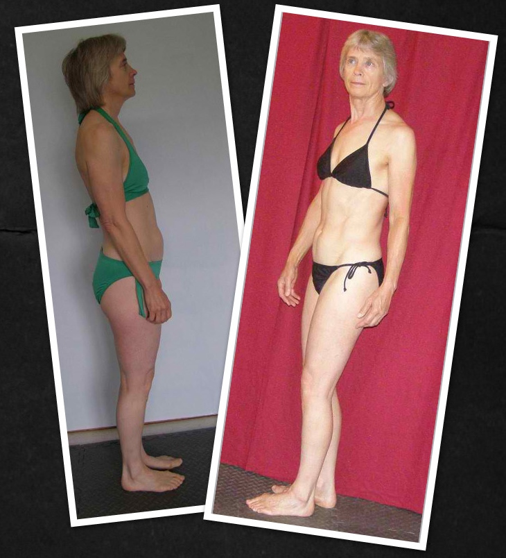 Even at age 60 and a huge amount of life stress Lorraine managed to gain muscle, lose 7 pounds, and 2 inches off her waist in just 12 weeks.