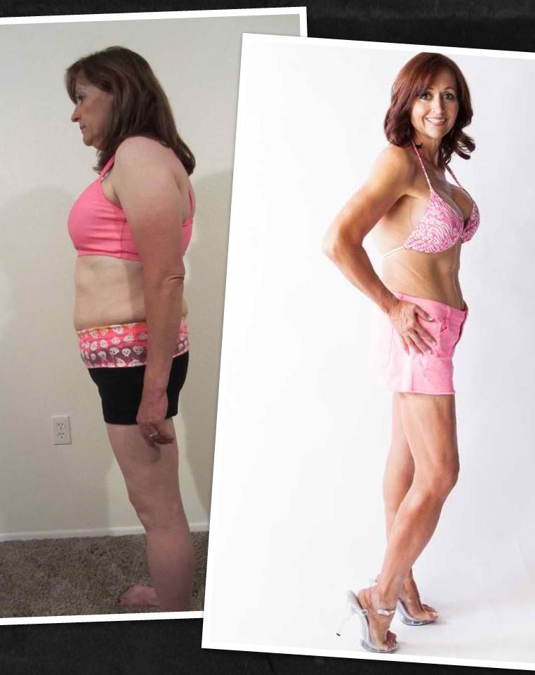 Julie lost 33 more pounds after entering the Venus contest.
