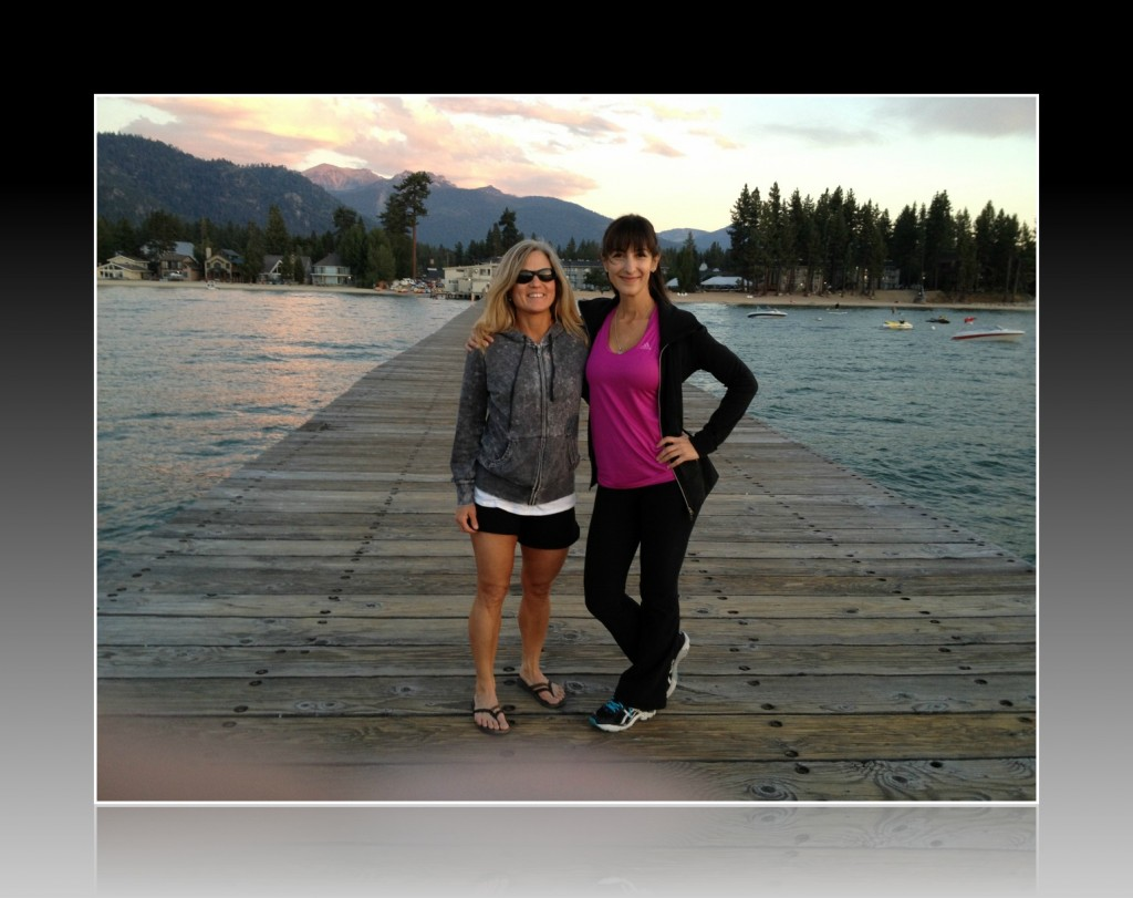 Tania and Roberta on a South Lake Tahoe dock