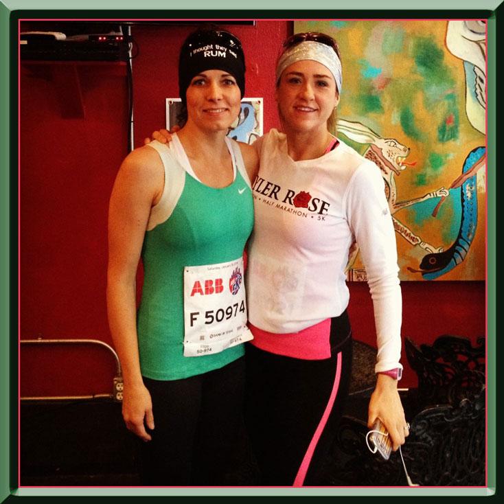 My running partner & I before the 5K