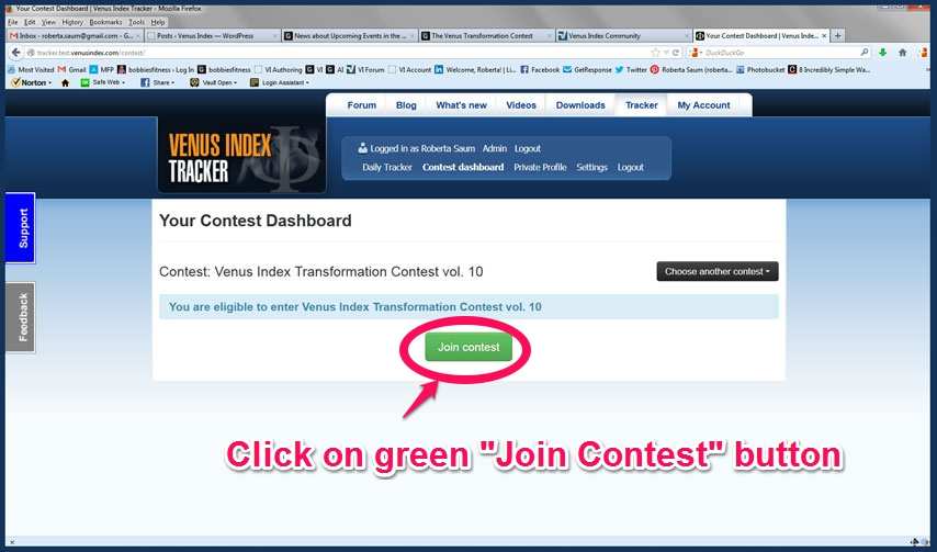 Skitch-S3 Click on green contest button