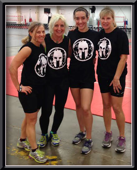 Michele and Christina on the left took me under their wing at the Spartan workout. Next to them is Andi who was our instructor for the day.