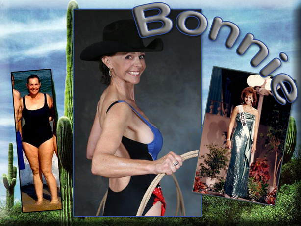 """Bonnie said """"I fit back into the sequin dress now, my rear is smaller and my shoulders are bigger.  Glory hallelujah!"""""""