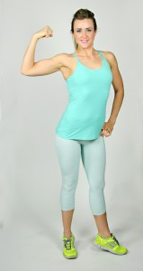 Liss teal workout outfit