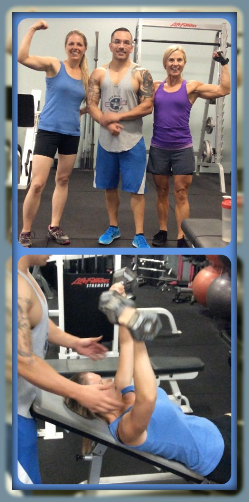 Kat like to work hard and we all did lots of high fives at the gym!