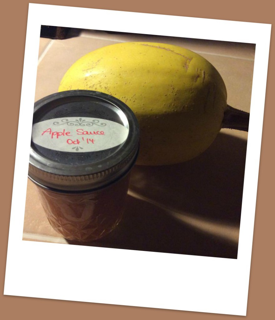 Kat and I share a love for organic foods so she brought me gifts from her garden.