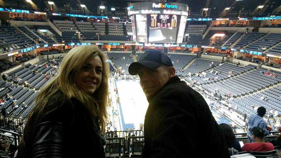 Liss and her husband at the Grizzlies game
