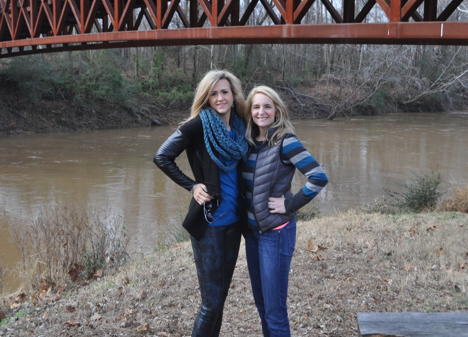 Liss and Jenny at the Wolf River