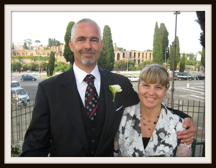 Randy and I renewed our vows in Rome in 2008.
