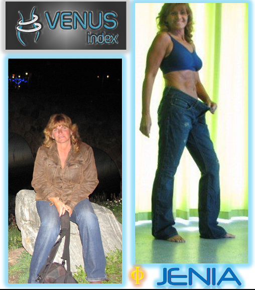 Jenia before and after front small