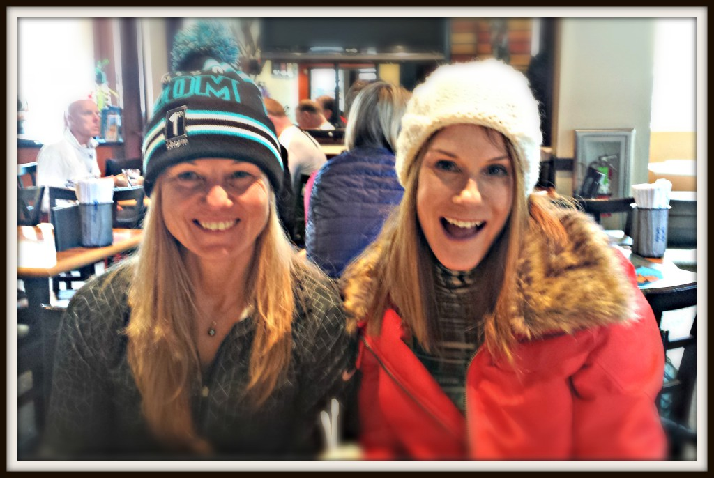 Roberta and Denise enjoying a Sushi lunch break at Northstar Tahoe.
