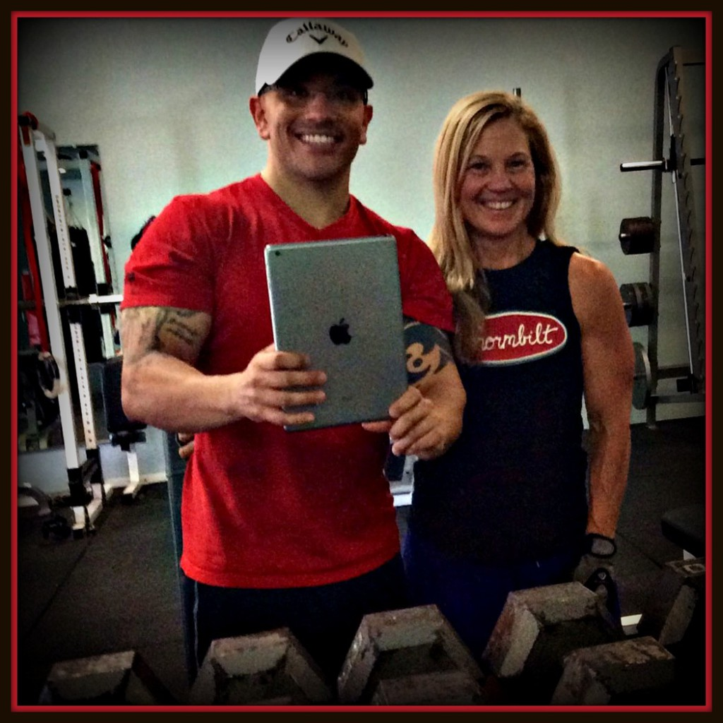 """Here's a picture of me with coach Miles just last week. Even though I don't plan to compete again, I still train with Miles once a week to """"keep my head in the game""""."""