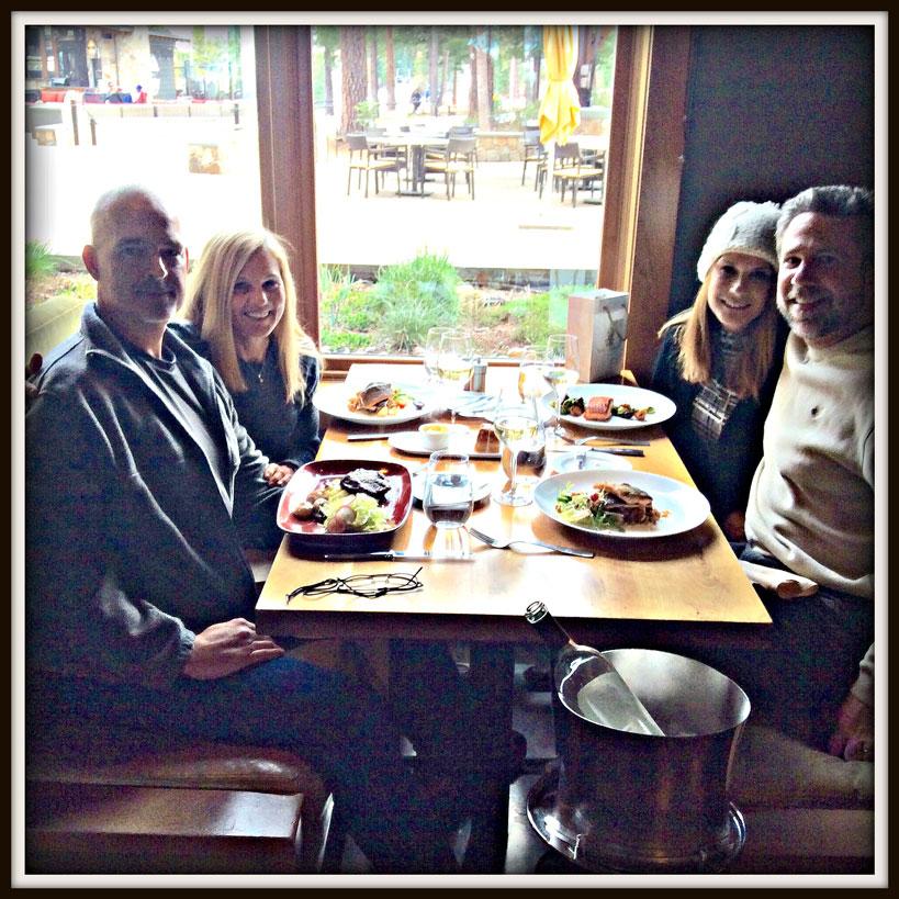 Randy, myself, Denise, and Gary enjoying an elegant and beautiful dinner at the Manzanita restaurant.