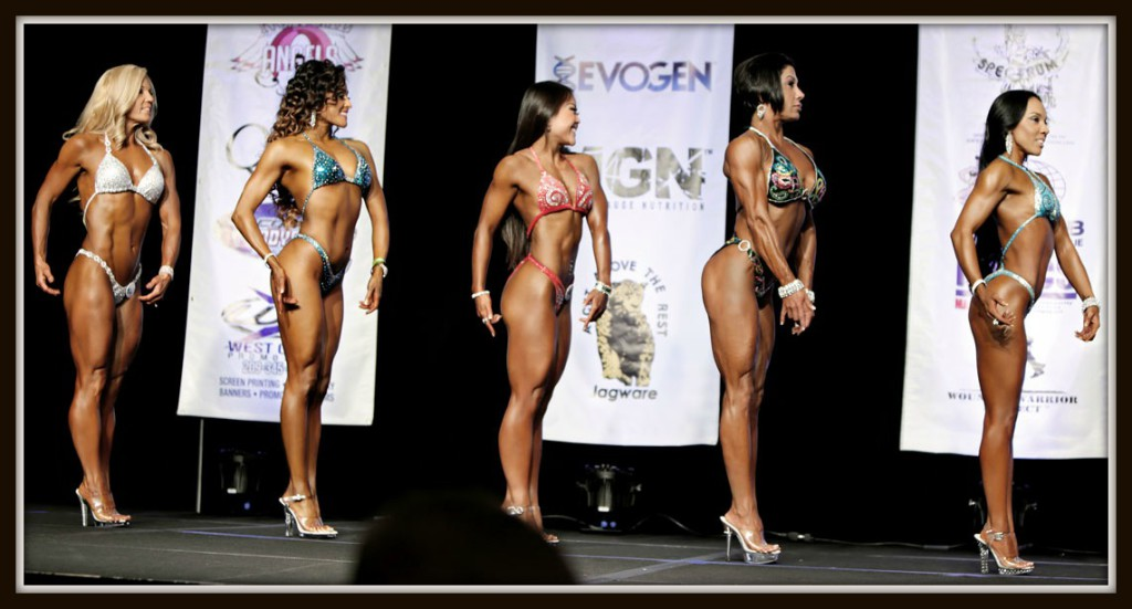 Here I am in the open class lineup with much younger women.
