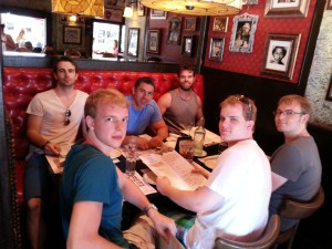 Boys Table Lunch after workout in Miami