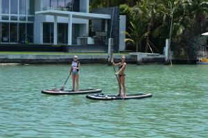 Coach Jenny and Liss Paddleboarding