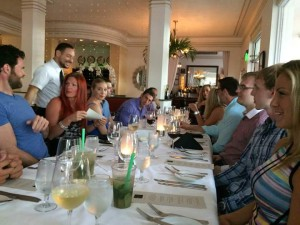 Dinner on Ocean Drive in Miami