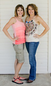 Tracie with her best friend Erin
