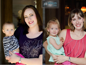 tracie before and after with baby