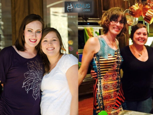 tracie before and after with same friend