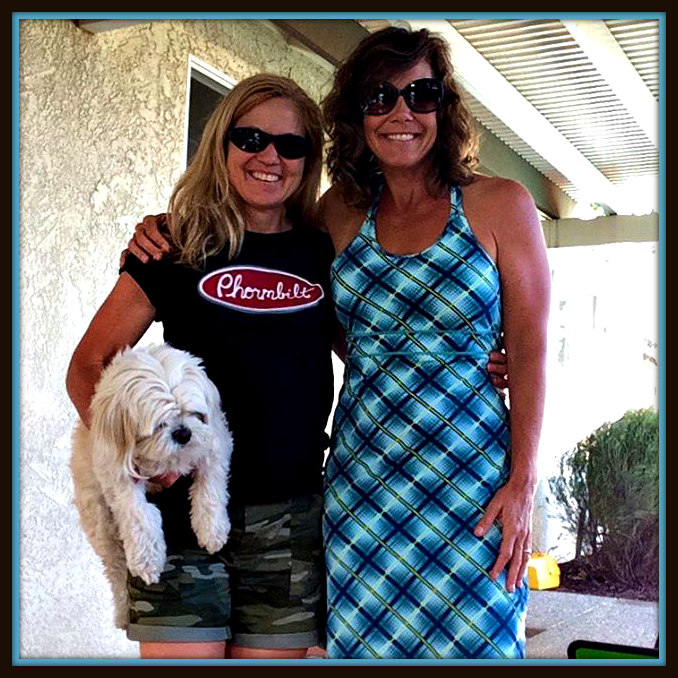 Shampy Sherman-Boughner (the dog), and me with Pam couple of days ago when we recorded today's podcast.