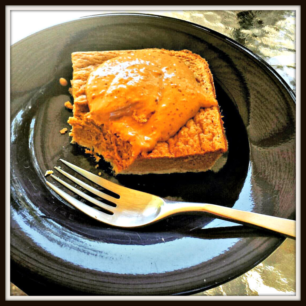 FRAME-pumpkin custard with PB2 frosting