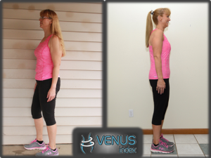 Donette before and after side 12 weeks