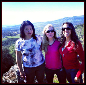 Anea, Jerie, and I on our hike.