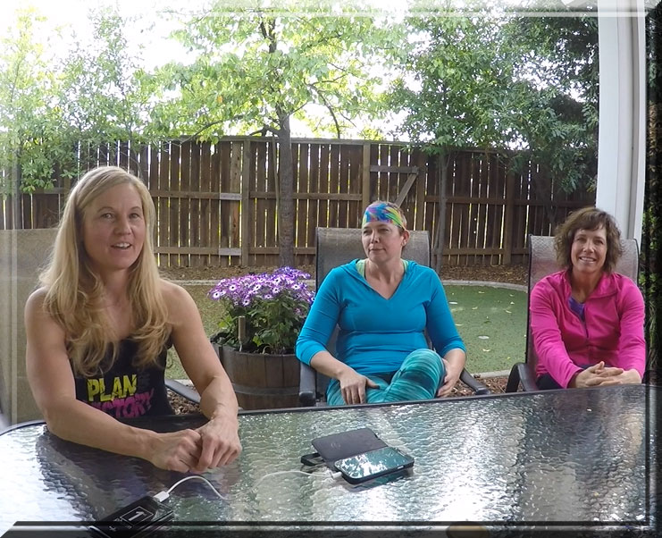 Tara (in blue), and Pam (in pink) and I decided to get together to document Tara's success story.
