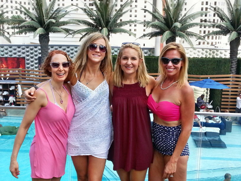 Kimberly, Liss, Jenny, and Lou Ann in Vegas